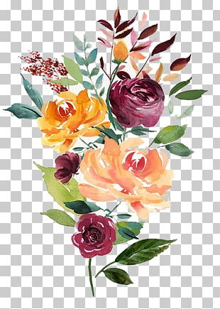Watercolour Flowers Portable Network Graphics Floral Design Watercolor Painting PNG
