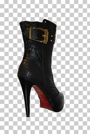 Boot High-heeled Shoe Black M PNG