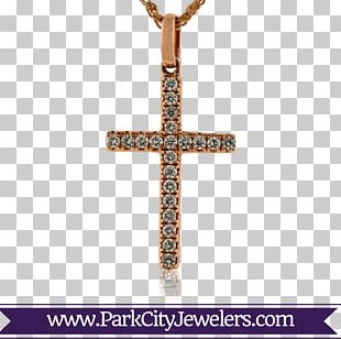Earring Jewellery Cross Necklace Crucifix Gold PNG
