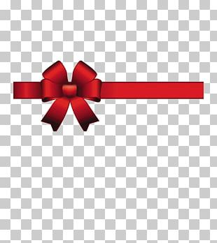 Ribbon Bow And Arrow Red Satin PNG