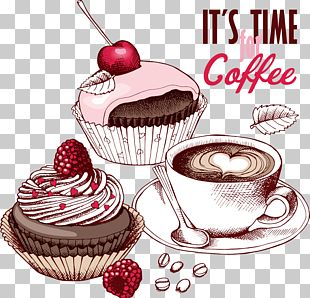 Coffee Fruitcake Cupcake Chocolate Cake Tea PNG