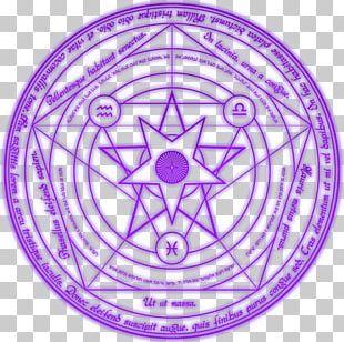 Magic Circle Occult Incantation PNG
