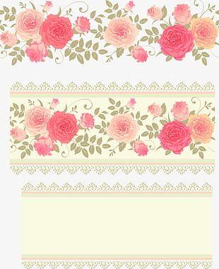 Pink Roses Flower Background PNG