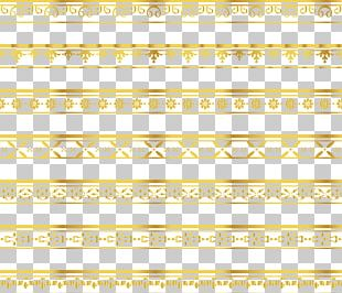 Delicate Gold Lace Border PNG
