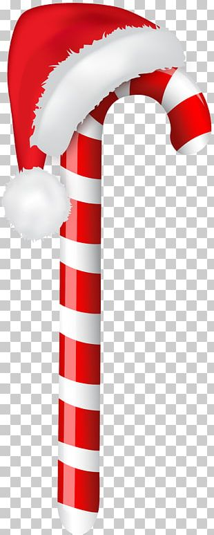Candy Cane Santa Claus Christmas PNG