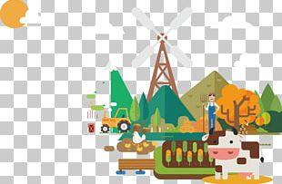 Euclidean Farm Illustration PNG