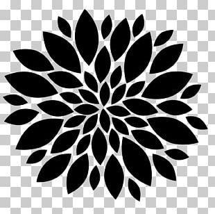 Flower Black And White Silhouette PNG