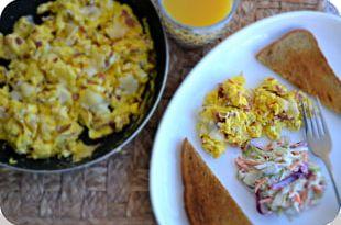 Breakfast Vegetarian Cuisine Hash Scrambled Eggs Leftovers PNG