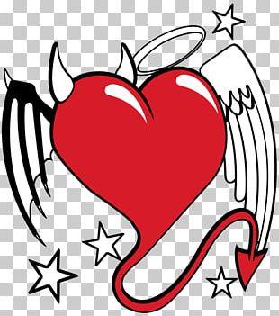 Devil Shoulder Angel Drawing Love PNG