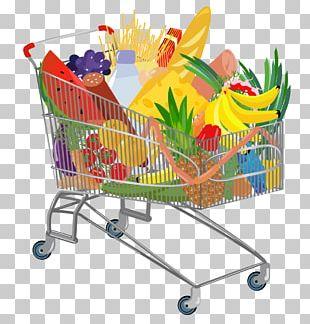 Supermarket Shopping Cart Euclidean PNG