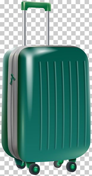 Suitcase Baggage Trolley Travel PNG