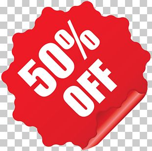 50% Off Sticker PNG