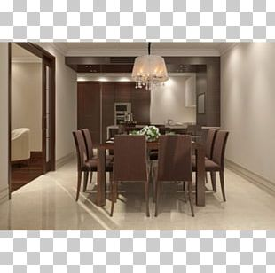 Table Dining Room Furniture Interior Design Services Chandelier PNG