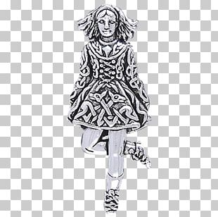 Drawing Outerwear Fashion Illustration Irish Dance Costume PNG