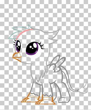 Griffin Bird Demon Line Art PNG