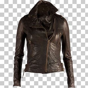 Leather Jacket Clothing Coat PNG