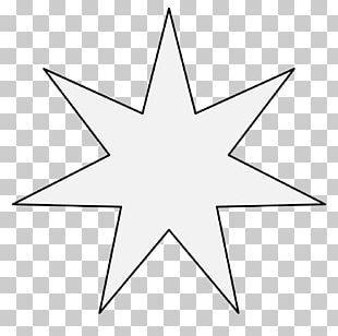 Heptagram Symbol Line Blue Star Wicca PNG