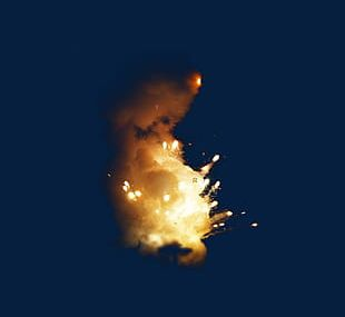 Powder Exploded Particles Splash PNG