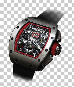 Watch Formula 1 Richard Mille Flyback Chronograph Race Car Driver PNG