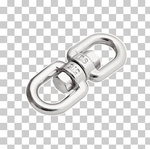 Swivel Wire Rope Steel Material Silver PNG