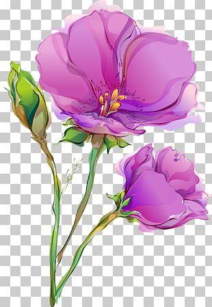 Flower Paper Painting Floral Design PNG