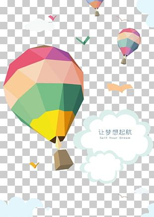 Hot Air Balloon Poster PNG
