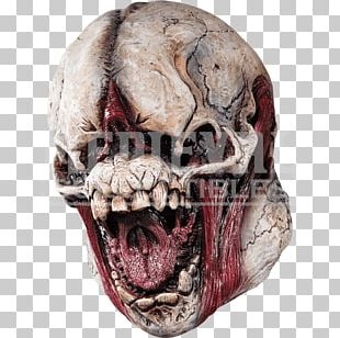 Latex Mask Skull Halloween Costume Monster PNG