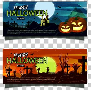 Banner Halloween Bat PNG