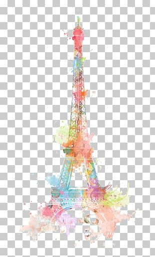 Eiffel Tower Drawing Watercolor Painting PNG