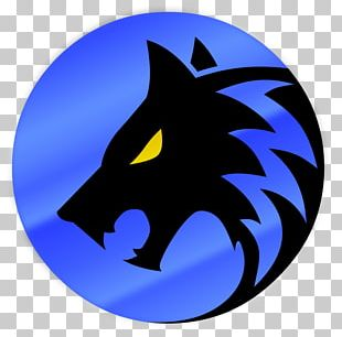Emblem Logo Canidae Puppy Black Wolf PNG