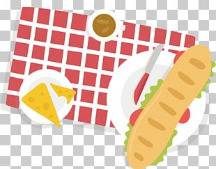 Barbecue Picnic Basket Poster PNG