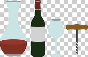 Red Wine Liquor Glass Bottle Champagne PNG