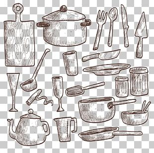 Table Kitchen Utensil Drawing Kitchenware PNG