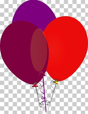 Balloon Red Purple PNG