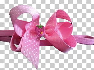 Ribbon Hair Tie Pink M Shoe PNG