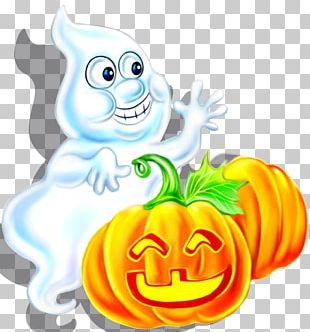 Cartoon Halloween Ghost Illustration PNG