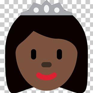 Emojipedia Princess Dark Skin Human Skin Color PNG
