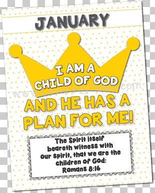 The Church Of Jesus Christ Of Latter-day Saints Primary I Am A Child Of God Bible January PNG