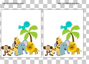 Baby Jungle Animals Wedding Invitation Baby Shower Game Infant PNG