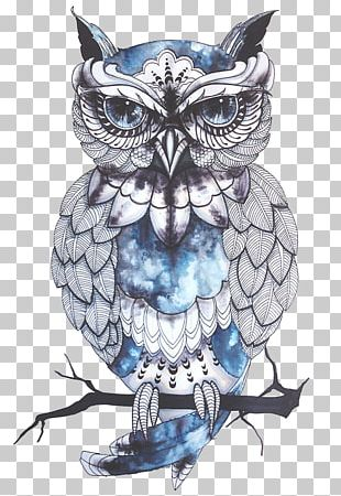 Baby Owls Sleeve Tattoo Drawing PNG