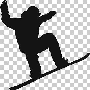 Snowboarding Silhouette Skiing PNG