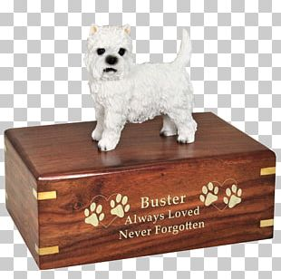 Dog Breed West Highland White Terrier Companion Dog Urn Ceramic PNG