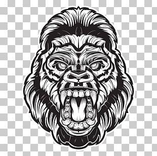 Gorilla Drawing PNG