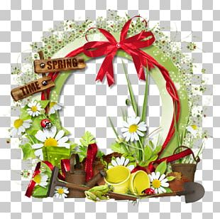 Frames Christmas Ornament Floral Design PNG