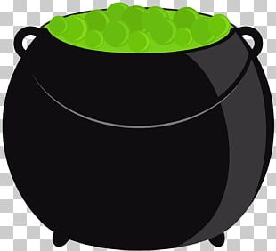 Halloween Cauldron Party Caramel Apple Paper PNG