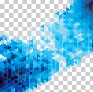 Abstract Art Blue Geometry Stock Illustration PNG