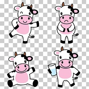 Holstein Friesian Cattle Cartoon Drawing Illustration PNG