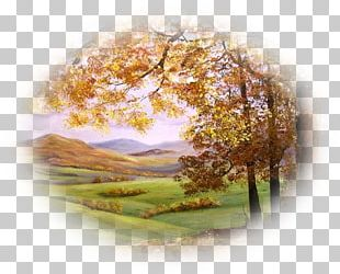 Landscape Painting Autumn Leaves PNG