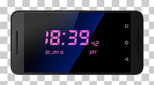 Smartphone Radio Clock Display Device PNG