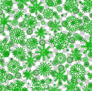 Green Snowflake Pattern PNG